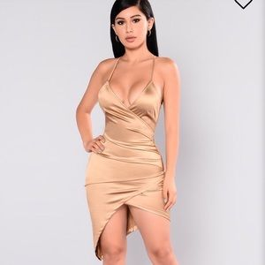 Gold fashion nova dress
